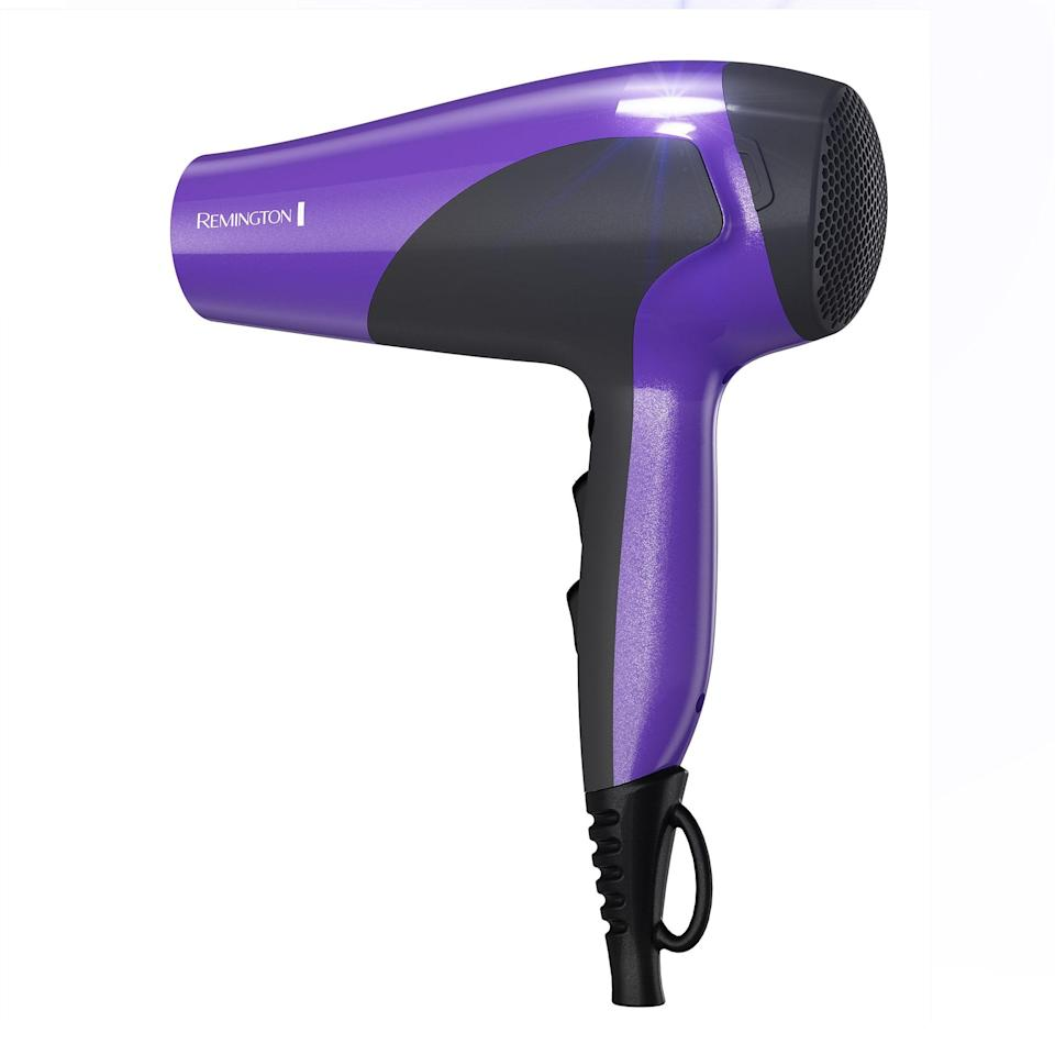 We've already said it: curls need moisture. The more they retain, the better they will look — it's that simple. The Remington Ceramic dryer uses ionic technology to make sure hydration is sealed into the cuticle, leaving you with a glossy, frizz-free crown. Plus, it's super affordable if you're on a budget.