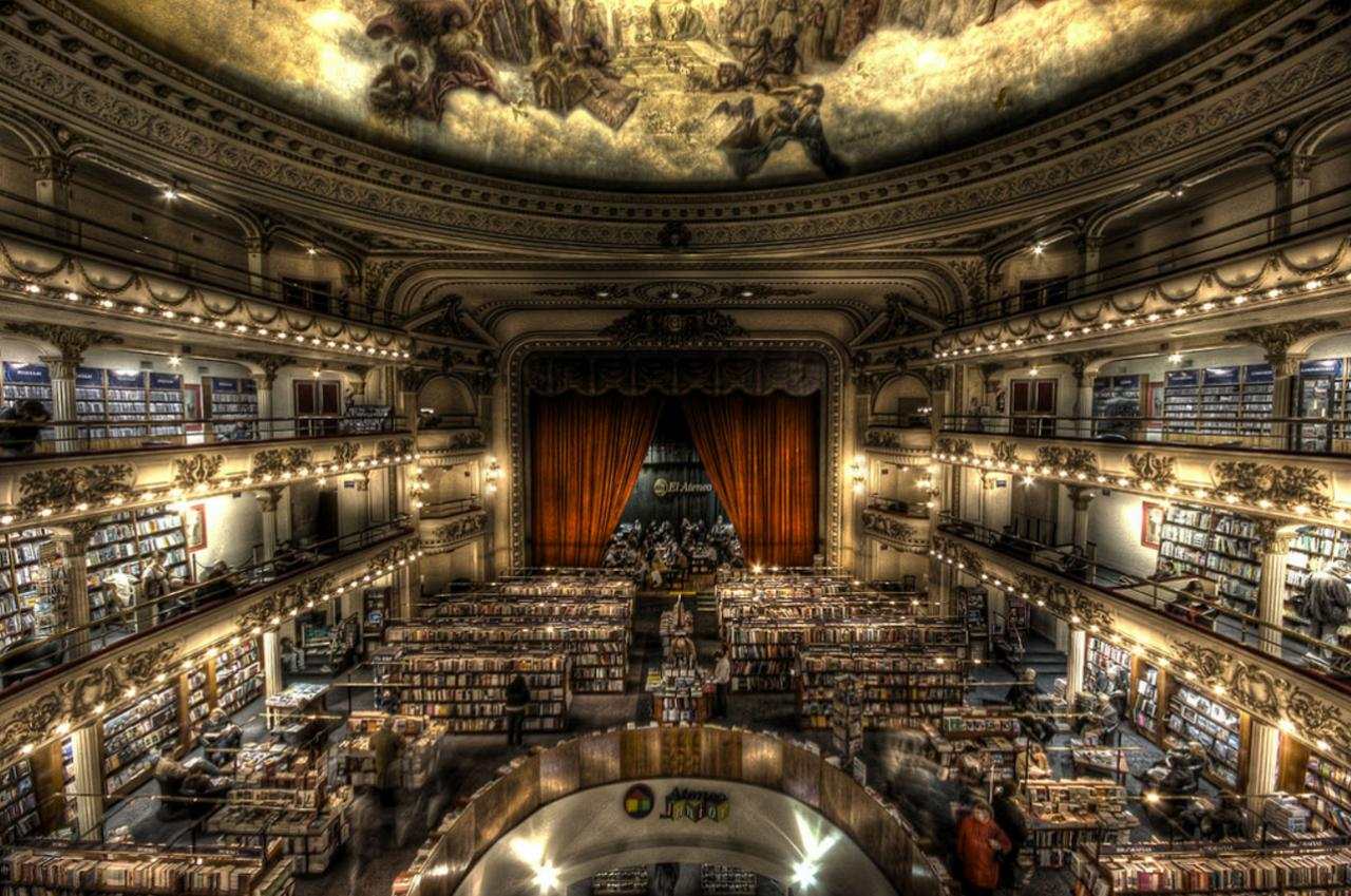 """<p>This magical bookshop was first built as theTeatro Grand Splendid in 1919, after which it was converted into a cinema in 1929. It was finally repurposed into a bookshop in 2000 and sees over one million visitors each year.</p><p><i>[Photo:<a href=""""https://www.flickr.com/photos/rafapf/"""" title=""""Go to Rafael Ferreira's photostream"""">Rafael Ferreira</a>/Flickr]</i></p>"""