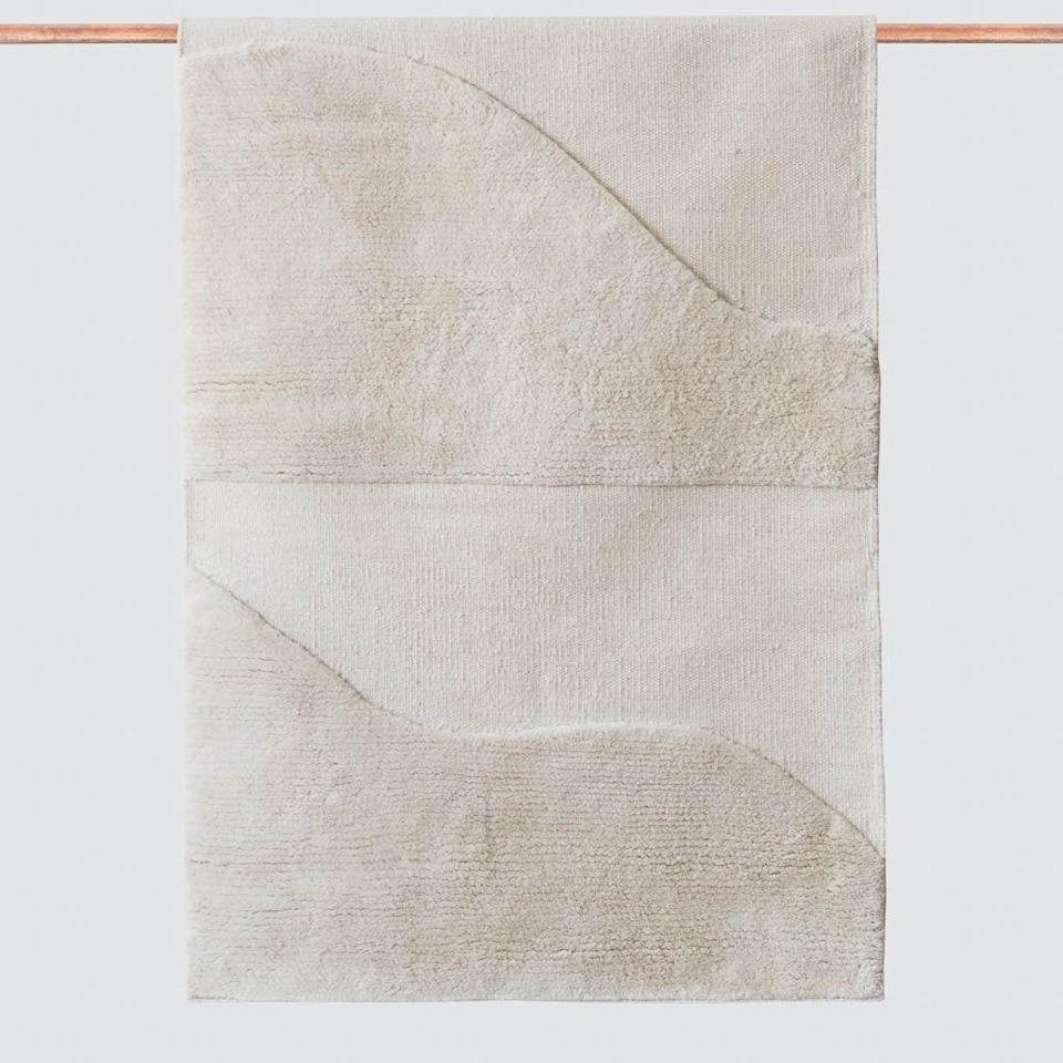 """<p>""""Nothing creates a cozy space quite like the perfect rug. The <span>The Citizenry Sagara Accent Rug</span> ($155) is plush and comfy with a chic design, so I'm sold. Plus, it comes in a number of different sizes for every room. - KJ</p>"""