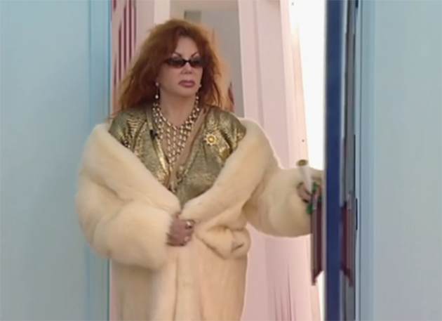 Jackie Stallone entering the Celebrity Big Brother house in 2005 (Photo: Channel 4)