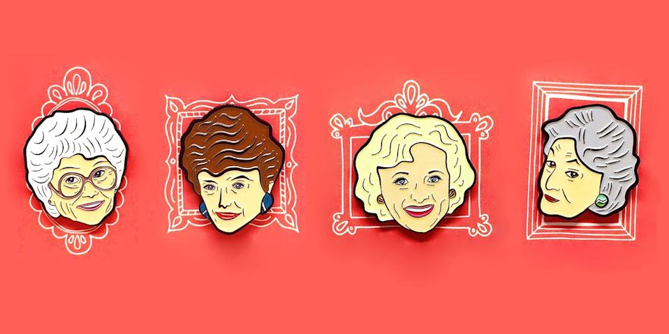 <p>Name a more iconic group of friends than <em>The Golden Girls</em>. We'll wait. If you ever wished you were friends with Dorothy Zbornak, Rose Nylund, Blanche Devereaux, and Sophia Petrillo, then you'll be excited to know that there are a ton of products with their faces all over them. It's almost like you're sitting around the table eating cheesecake together.</p>