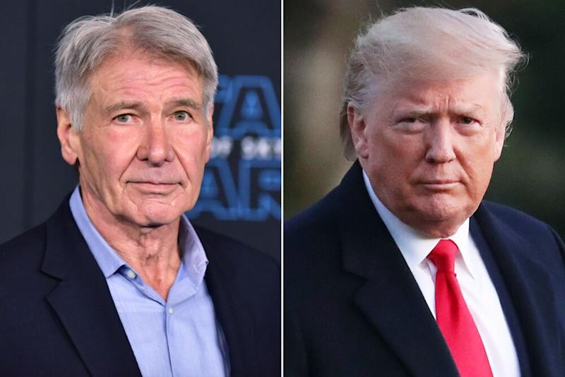 Harrison Ford and Donald Trump | Rodin Eckenroth/WireImage; Mark Wilson/Getty