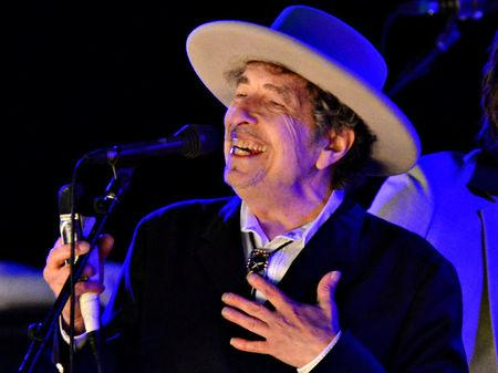 FILE PHOTO: File photo of U.S. musician Bob Dylan performing during on day 2 of The Hop Festival in Paddock Wood