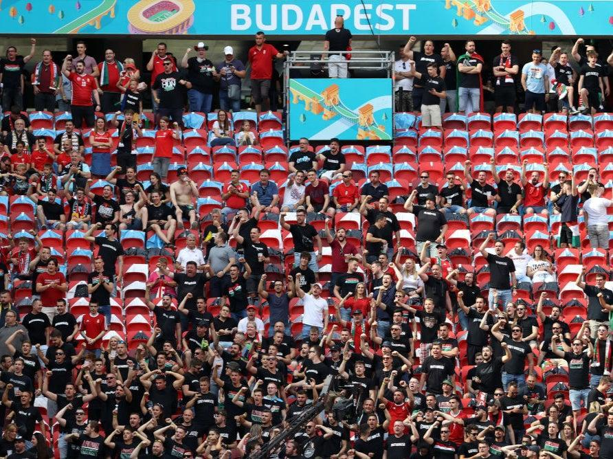 Hungary fans show their support prior to kick-off at Puskas Arena (Getty Images)