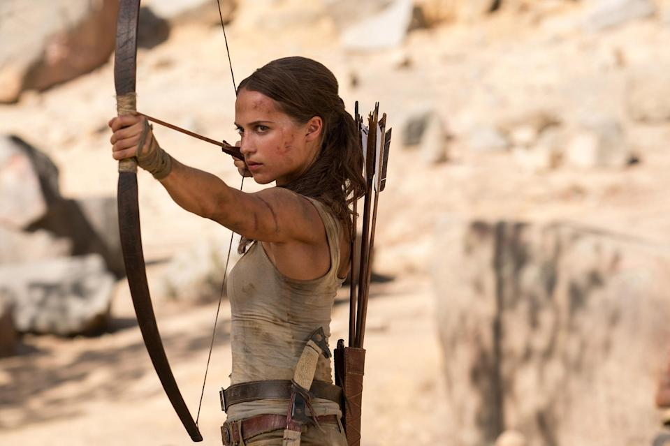 The Swedish actress takes over from Angelina Jolie as the tomb raiding hero