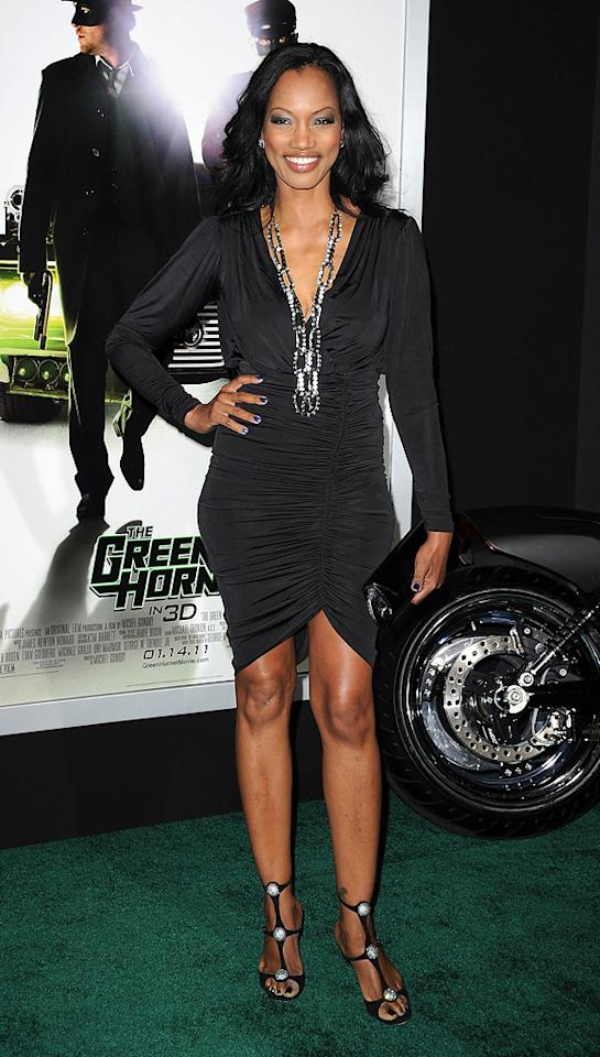 """<a href=""""http://movies.yahoo.com/movie/contributor/1807598780"""">Garcelle Beauvais</a> attends the Los Angeles premiere of <a href=""""http://movies.yahoo.com/movie/1808411967/info"""">The Green Hornet</a> on January 10, 2011."""