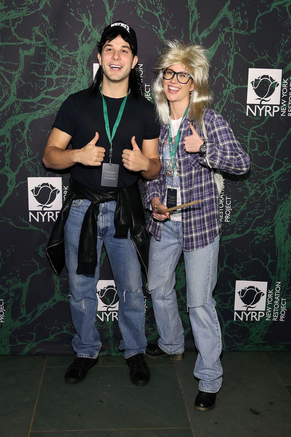 <p>Party on! The <em>Pitch Perfect </em>costars nailed their couples costume in 2017, dressing like the main characters from <em>Wayne's World</em>. </p>