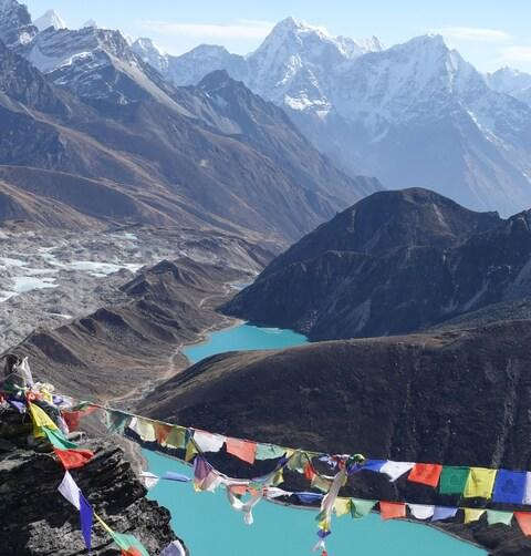Gokyo Lakes, Everest Region of Nepal, Mountain Kingdoms - Credit: Harry Gray