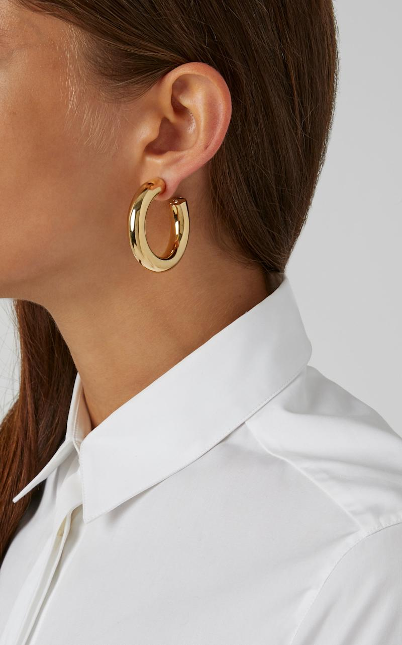 Mini Jamma Gold-Plated Hoop Earrings by Jennifer Fisher.