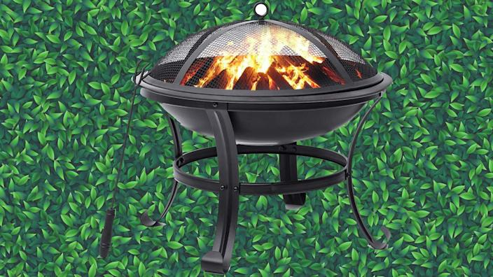 Stay cozy with this affordable fire pit.