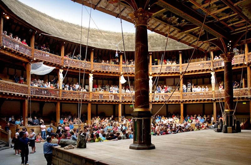 Interior of Shakespeares Globe Theatre, London, England | Bob Masters—Alamy