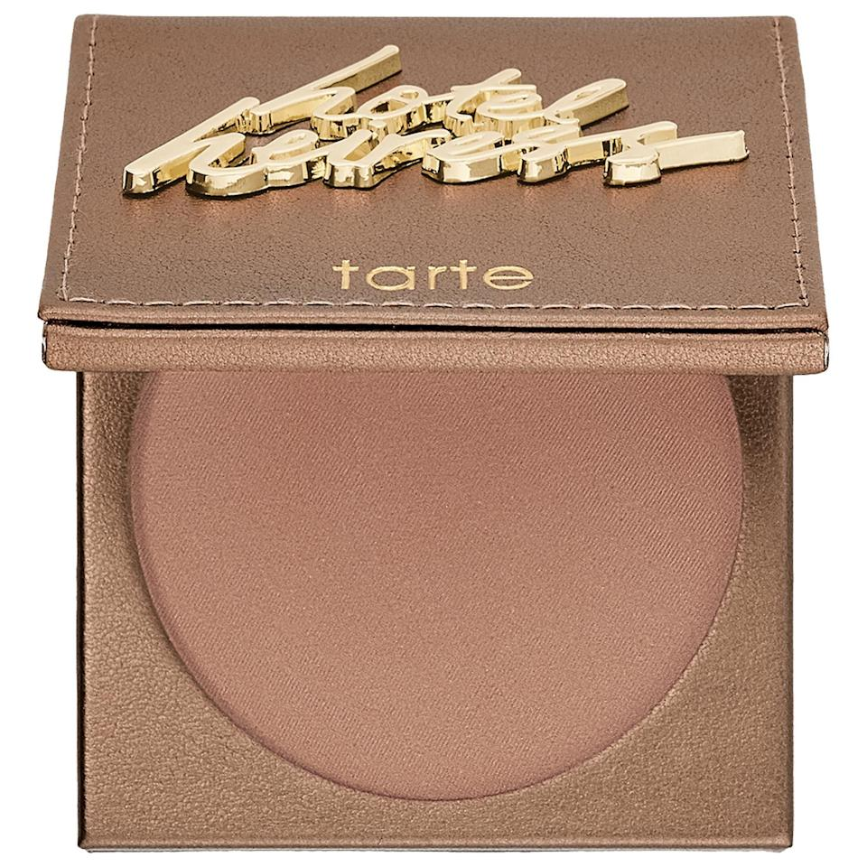 "<p><strong>tarte</strong></p><p>sephora.com</p><p><strong>$30.00</strong></p><p><a href=""https://go.redirectingat.com?id=74968X1596630&url=https%3A%2F%2Fwww.sephora.com%2Fproduct%2Fmatte-waterproof-bronzer-P262113&sref=https%3A%2F%2Fwww.womenshealthmag.com%2Fbeauty%2Fg32174487%2Fchloe-coscarelli-vegan-beauty-routine%2F"" rel=""nofollow noopener"" target=""_blank"" data-ylk=""slk:Shop Now"" class=""link rapid-noclick-resp"">Shop Now</a></p><p>""This bronzer is my go-to every morning. Even If I don't put on anything else, I make sure I'm at least wearing this when I leave the house. It's cruelty-free and gives me that sun-kissed glow even after the darkest of nights in the kitchen.""</p>"