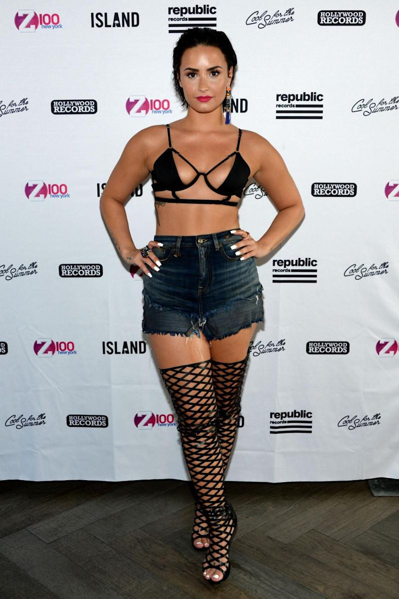 Demi Lovato is no stranger to flashing the flesh. Source: Getty
