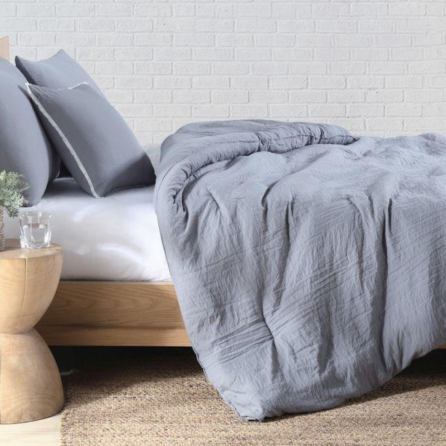 the block shop Quilt Cover Set King Bed in Charcoal Grey