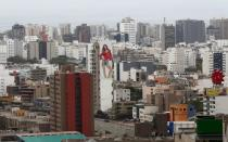 FILE PHOTO: A general view shows buildings in San Isidro financial district, in Lima
