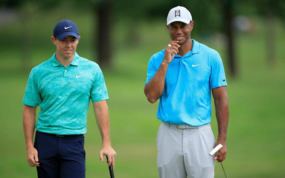 The likes of Tiger Woods and Rory McIlroy would likely be among those to benefit from the yearly $40m-plus pot - GETTY IMAGES