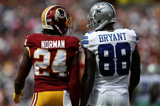 Josh Norman isn't shy about letting his voice be heard on the football field. The same applies for when the camera rolls in the entertainment business. (Getty Images)