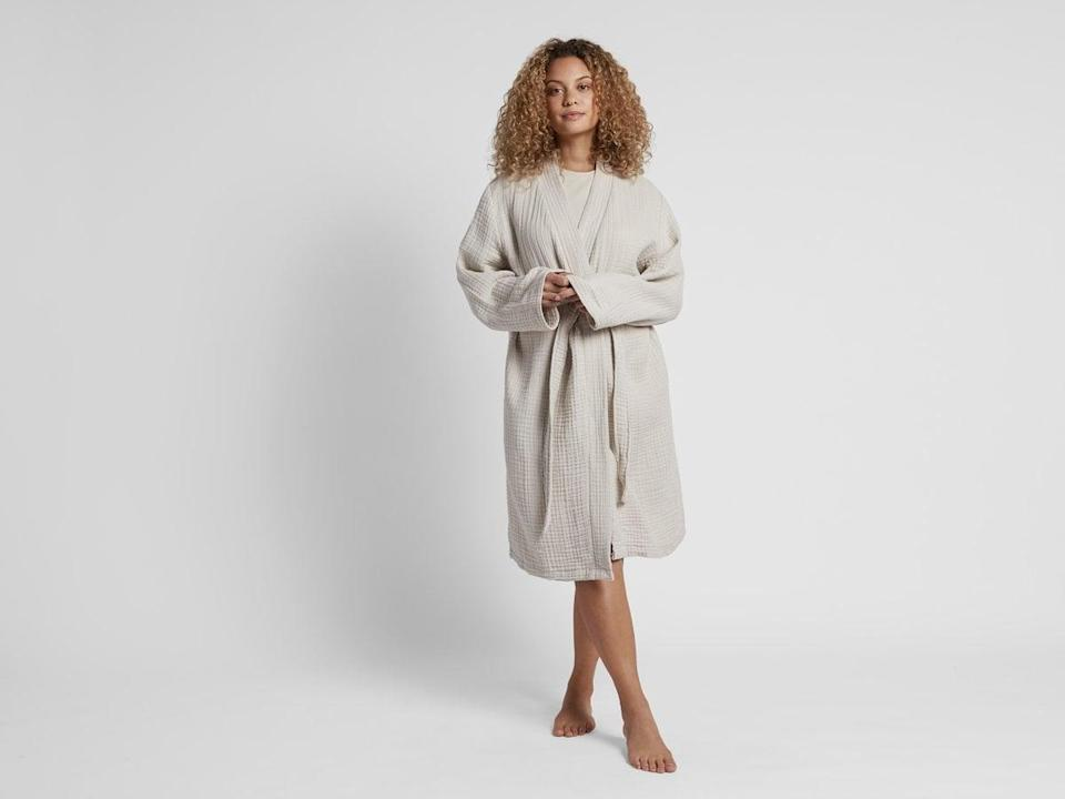 """<p>""""I'm a big fan of the <span>Parachute Cloud Cotton Robe</span> ($99), you can read my full review <a href=""""https://www.popsugar.com/fashion/parachute-cloud-cotton-robe-47478925"""" class=""""link rapid-noclick-resp"""" rel=""""nofollow noopener"""" target=""""_blank"""" data-ylk=""""slk:here"""">here</a>. I have worn mine every morning and night for the last year and am in need of an update. The brand just launched it in its newest shade, bone, and I'll for sure be grabbing one."""" - KJ</p>"""