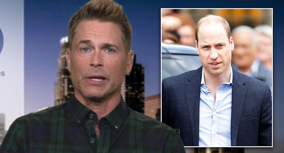 Rob Lowe has defended his comments about the Duke of Cambridge. [Photo: Getty/ITV]