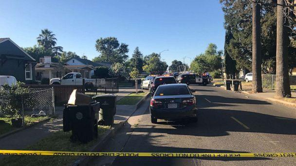 PHOTO: Sacramento, Calif., police were stationed outside a home where a man shot and killed an officer and holed up inside the residence on Wednesday, June 19, 2019. (KXTV)
