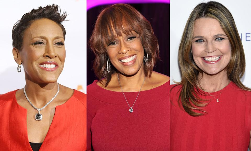 Robin Roberts, Gayle King and Savannah Guthrie are all working from home during the coronavirus pandemic. (Photo: Getty Images)