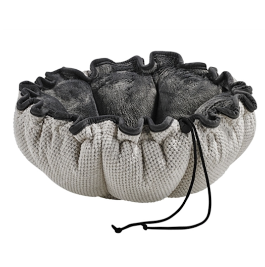 Buttercup Bed Aspen Chenille (Grey Teddy Faux-Fur Inside)