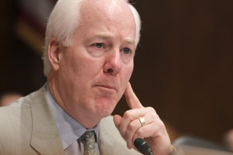 FILE - In this April 16, 2010 file photo, Sen. John Cornyn, R-Texas is seen on Capitol Hill in Washington.   (AP Photo/Charles Dharapak, File)
