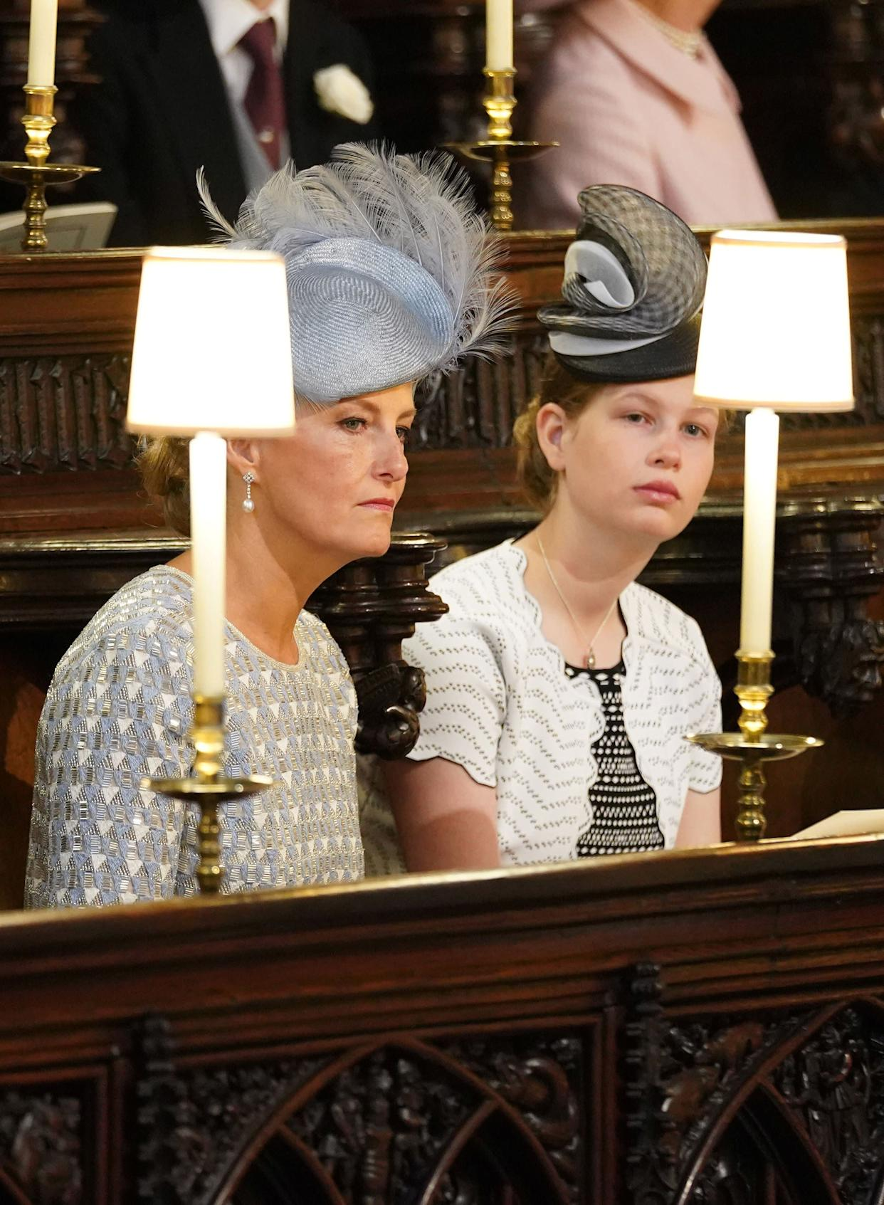 The Countess of Wessex and Lady Louise Windsor.