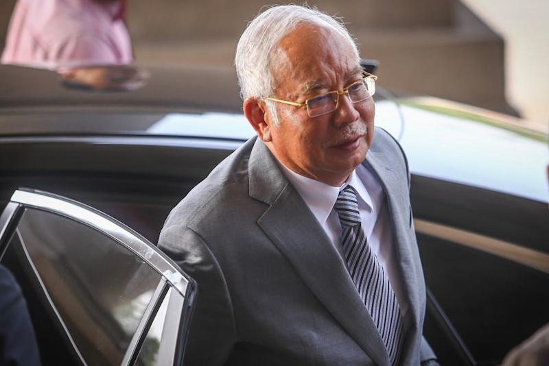 Former prime minister and Pekan MP Datuk Seri Najib Razak was listed as the fourth respondent in the amended notice by the MACC. ― Picture by Hari Anggara