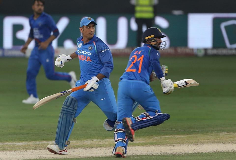 Number three Dinesh Karthik chipped in with a valuable contribution of 44 runs. (Image: Twitter/BCCI)