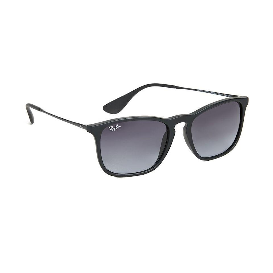 """<p><strong>Ray-Ban</strong></p><p>eastdane.com</p><p><strong>$147.00</strong></p><p><a href=""""https://go.redirectingat.com?id=74968X1596630&url=https%3A%2F%2Fwww.eastdane.com%2Fchris-sunglasses-ray-ban%2Fvp%2Fv%3D1%2F1596451898.htm&sref=https%3A%2F%2Fwww.menshealth.com%2Fstyle%2Fg21753744%2Fbeach-essentials%2F"""" rel=""""nofollow noopener"""" target=""""_blank"""" data-ylk=""""slk:BUY IT HERE"""" class=""""link rapid-noclick-resp"""">BUY IT HERE</a></p><p>Stylish sunglasses for sun protection are essential for any day at the beach. This Ray-Ban Chris style is a classic option you'll be thankful to have this summer with a flattering, semi-flexible frame shape and gradient lenses. </p>"""