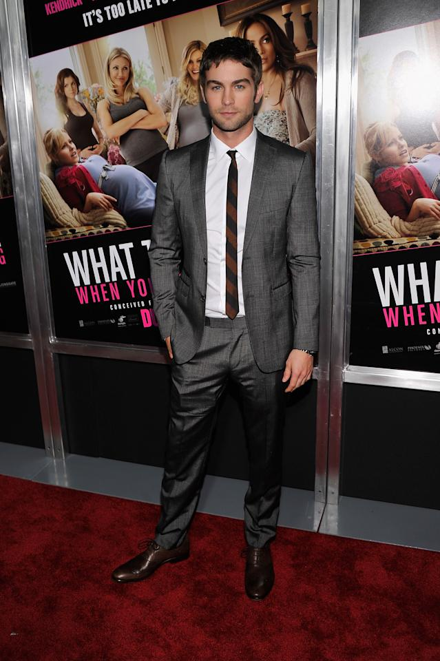 "NEW YORK, NY - MAY 08:  Actor Chace Crawford attends the ""What To Expect When You're Expecting"" New York Screening at AMC Lincoln Square Theater on May 8, 2012 in New York City.  (Photo by Stephen Lovekin/Getty Images)"