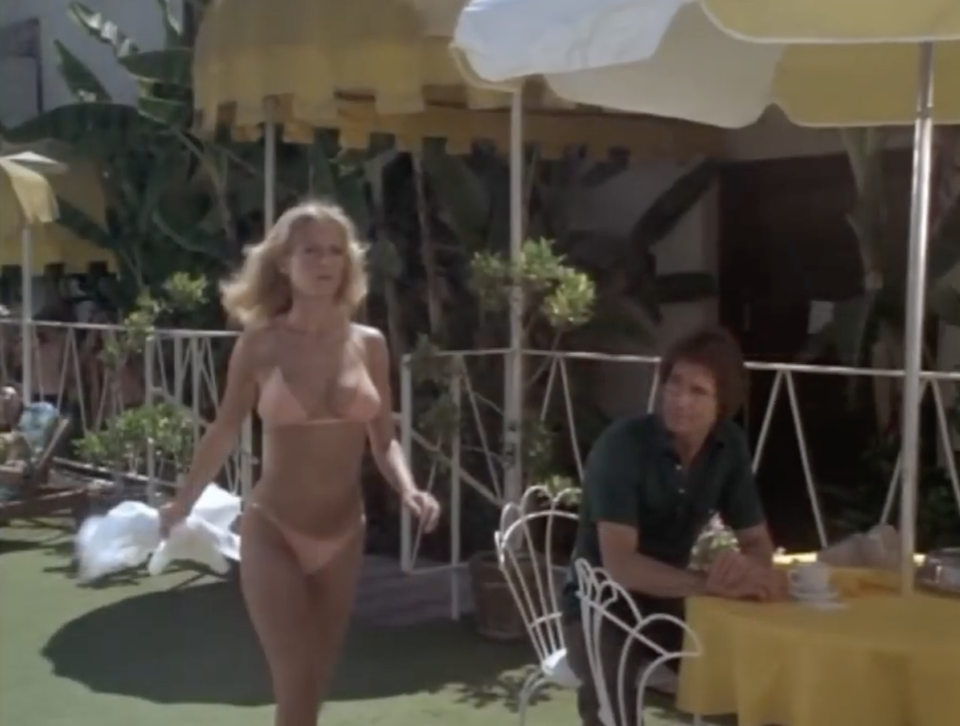 """Cheryl Ladd wearing the """"tiniest bikini"""" as an act of protest in the Season 3 episode """"Angel on High.""""(Courtesy: Sony Pictures Television)"""