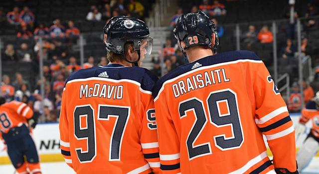 The Oilers' dynamic duo has been brilliant this season. (Photo by Andy Devlin/NHLI via Getty Images)
