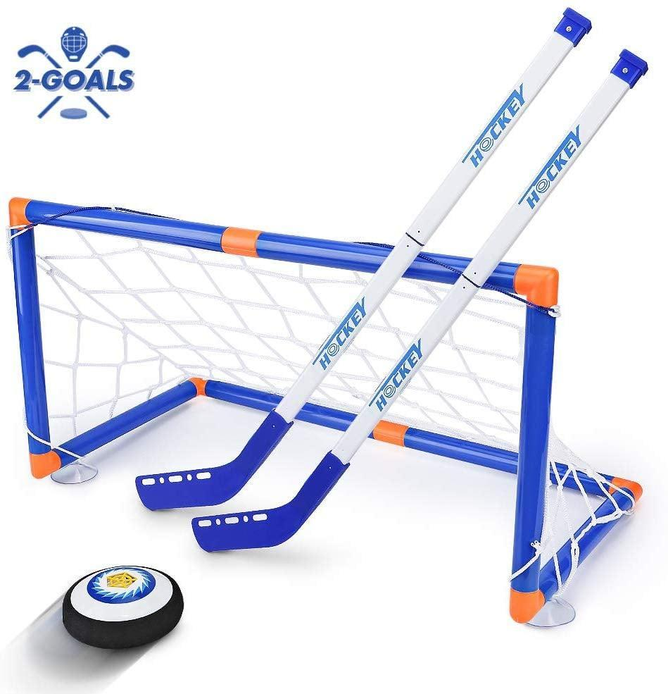 <p>This <span>Street Walk LED Hockey Hover Set</span> ($30) can be used both inside and outside. But we have a feeling they'll love it outdoors with friends.</p>
