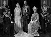 <p>The Duke of York (the future King George VI) marries Lady Elizabeth Bowes-Lyon (the future Queen Elizabeth and Queen Mother). Also this year, Princess Mary gives birth to George Lascelles (7th Earl of of Harewood).</p>