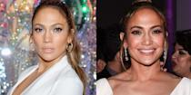<p>Jennifer Lopez isn't stingy with her grins, but the actress and singer usually opts for a sultry stare while on the red carpet. </p>