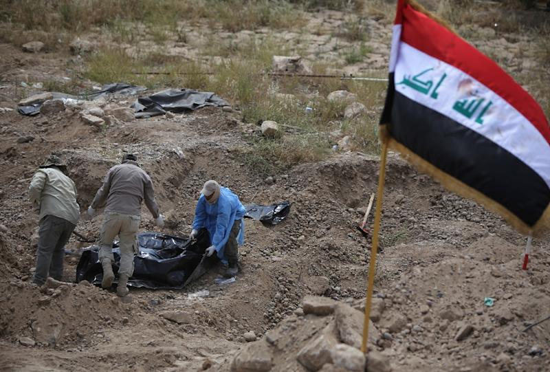 The Speicher massacre is considered one of IS's worst crimes since it took over large parts of the country in 2014 (AFP Photo/Ahmad Al-Rubaye)