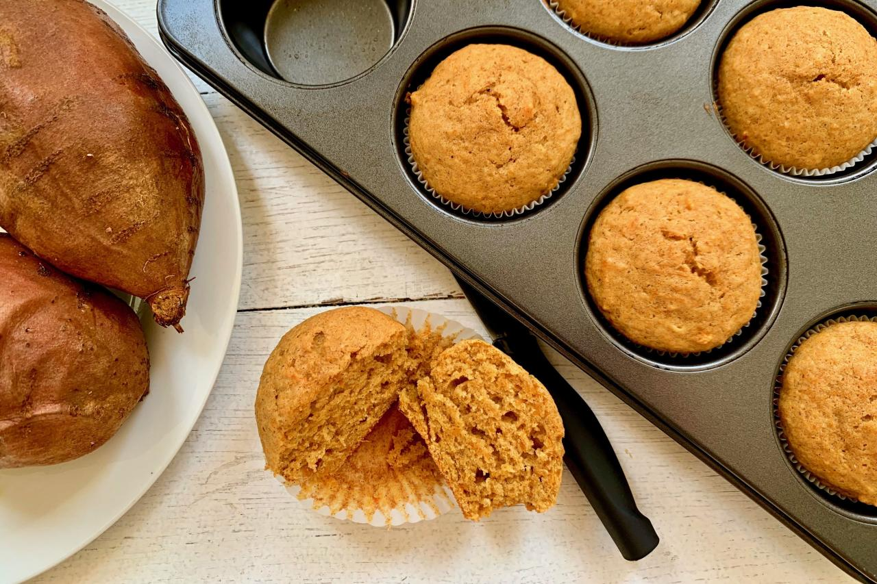 "<p><strong>Recipe: <a href=""https://www.southernliving.com/recipes/sweet-potato-muffins"">Sweet Potato Muffins</a></strong></p> <p>If you love pumpkin muffins then these are a must-try healthier alternative.</p>"