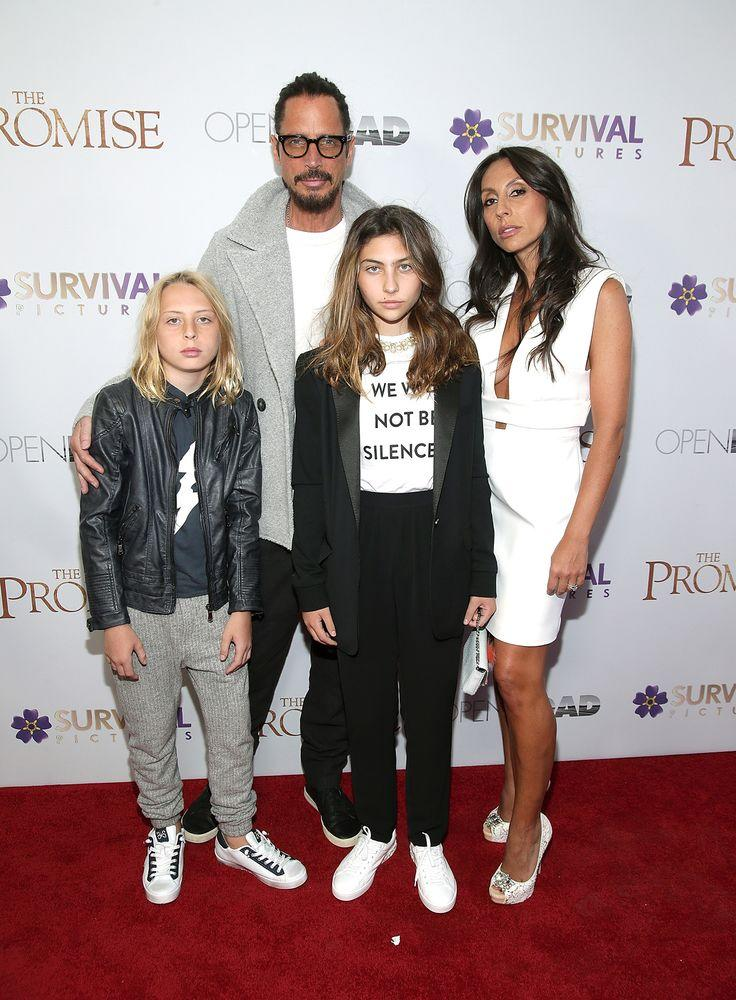 Chris Cornell, wife Vicky, daughter Toni and son Christopher