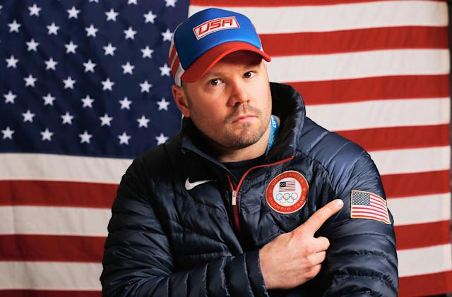 SOCHI, RUSSIA - FEBRUARY 03: (BROADCAST-OUT) Steven Holcomb of the United States Bobsled team poses for a portrait ahead of the Sochi 2014 Winter Olympics on February 3, 2014 in Sochi, Russia. (Photo by Scott Halleran/Getty Images)