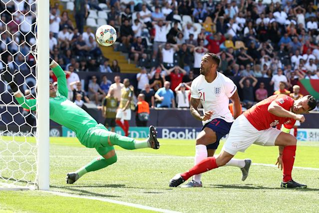Wilson's goal which is later disallowed following a VAR check. (Photo by Jan Kruger/Getty Images)