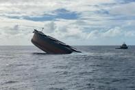 More than 1,000 tonnes of oil seeped from a gash in the hull of the MV Wakashio after it struck a reef off Mauritius