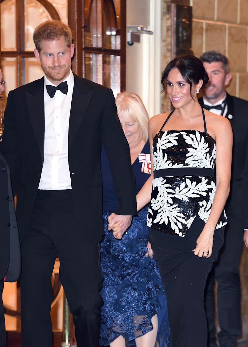 Harry and Meghan at the Royal Variety Performance in 2018 (Photo: Karwai Tang via Getty Images)