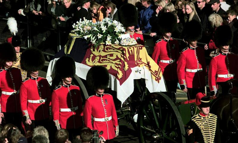 Funeral procession for Diana, the Princess of Wales