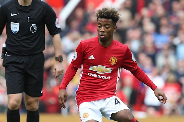 Prospect: Angel Gomes has been at Manchester United since the age of six: Man Utd via Getty Images