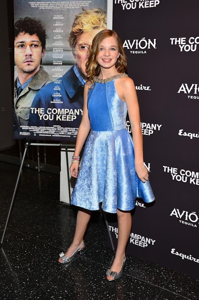 """NEW YORK, NY - APRIL 01:  Actress Jackie Evancho attends """"The Company You Keep"""" New York Premiere at The Museum of Modern Art on April 1, 2013 in New York City.  (Photo by Larry Busacca/Getty Images)"""