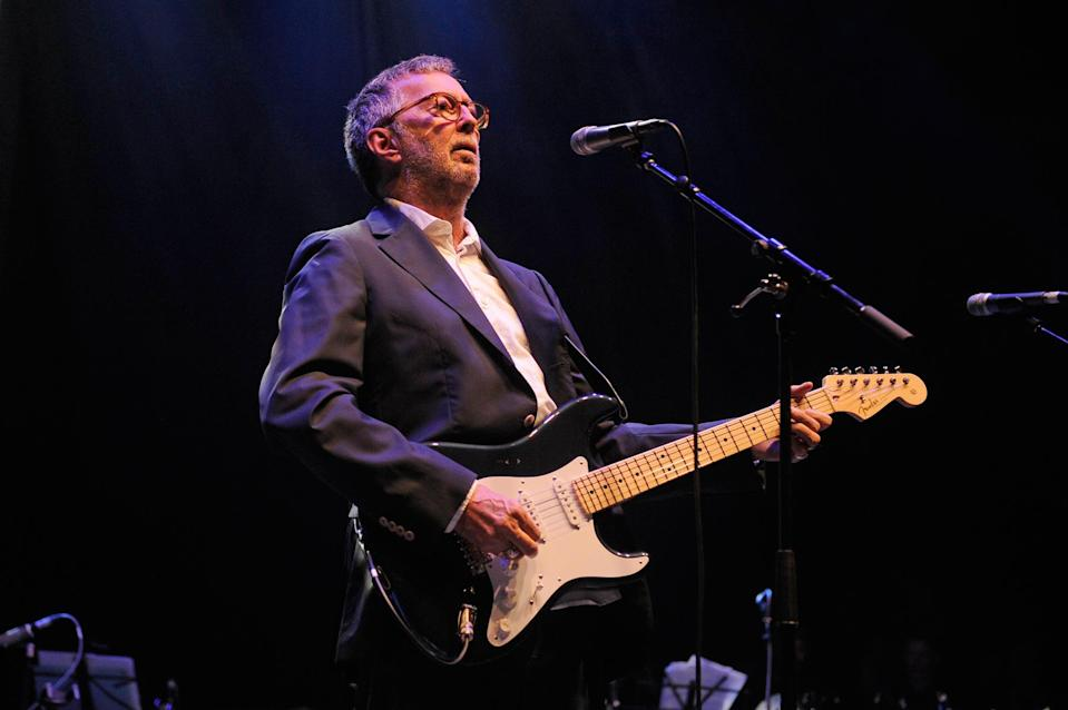 Eric Clapton performs 'In Memory of Chas Hodges' - 12/17/18 - Credit: KGC-138/STAR MAX/IPx/AP Images