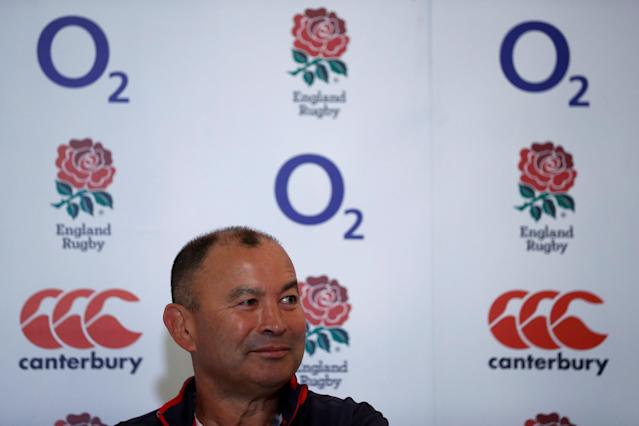 Rugby Union - England Press Conference - Pennyhill Park, Bagshot, Britain - May 25, 2018 England head coach Eddie Jones during the press conference Action Images via Reuters/Andrew Couldridge