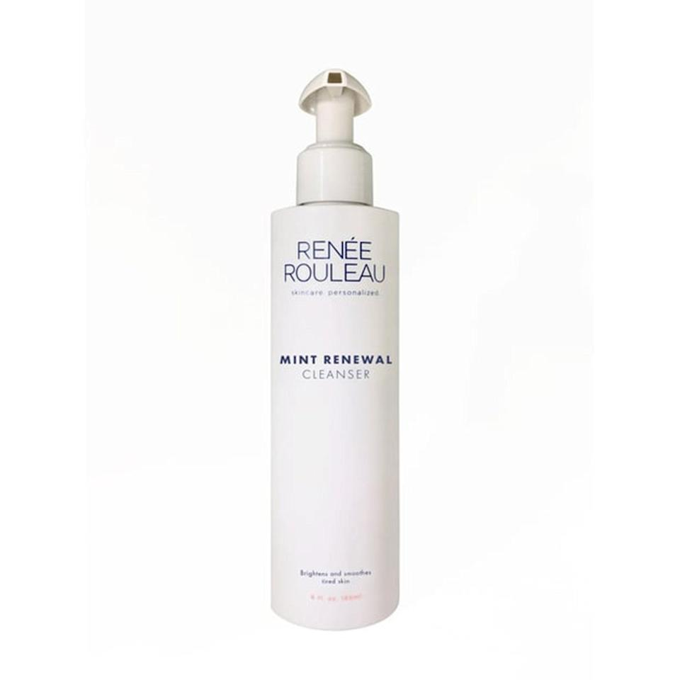 "<p>""Maybe I've been stuck inside my house too long, but I get genuinely giddy every time I use Renee Rouleau's Mint Renewal Cleanser to wash my face. It smells incredible and the jojoba beads offer gentle <a href=""https://www.allure.com/gallery/best-exfoliator-by-skin-type?mbid=synd_yahoo_rss"" rel=""nofollow noopener"" target=""_blank"" data-ylk=""slk:exfoliation"" class=""link rapid-noclick-resp"">exfoliation</a> that makes my skin <a href=""https://www.allure.com/story/dull-skin-causes-and-treatments?mbid=synd_yahoo_rss"" rel=""nofollow noopener"" target=""_blank"" data-ylk=""slk:look brighter"" class=""link rapid-noclick-resp"">look brighter</a>. It also contains moisturizing panthenol, which helps prevent that 'stripped' feeling some exfoliating cleansers can cause."" <em>— Kara McGrath, deputy editor</em></p> <p><strong>$38</strong> (<a href=""https://www.reneerouleau.com/products/mint-renewal-cleanser"" rel=""nofollow noopener"" target=""_blank"" data-ylk=""slk:Shop Now"" class=""link rapid-noclick-resp"">Shop Now</a>)</p>"